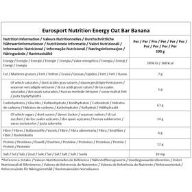 Eurosport nutrition Oat Bar Box 20 x 45g, banana